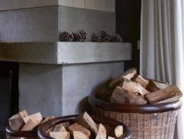 Rieten manden voor hout Tuinaccessoires Deco