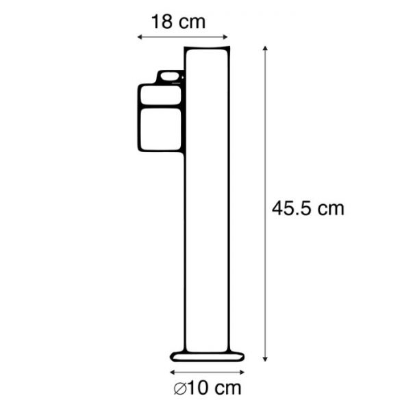 grijze-buitenlamp-rvs-afmetingen