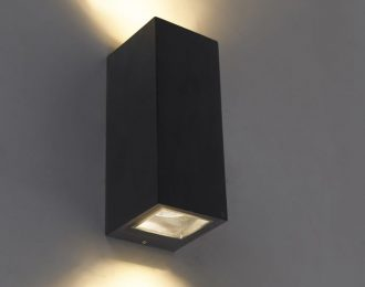Moderne wandlamp zwart 21 cm hoog