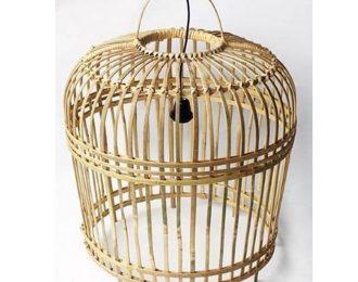 Lampenkap van bamboe naturel L ⌀ 54 cm en 54 cm hoog