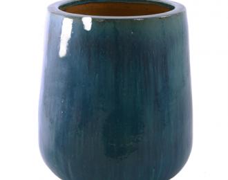 Pot 'Bep' turquoise ⌀54 cm H65 cm
