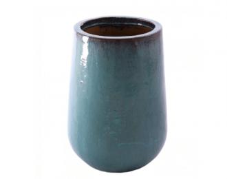 Pot 'Bep' turquoise ⌀38 cm H50 cm