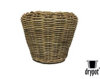 Drypot plantenmand grijs rond ⌀65 cm en 50 cm hoog met gaten