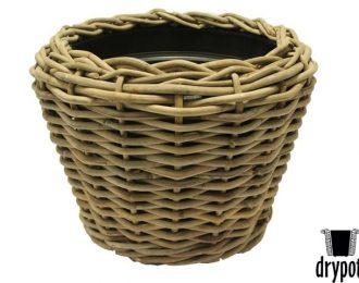 Drypot plantenmand grijs rond ⌀83 cm en 61 cm hoog met gaten