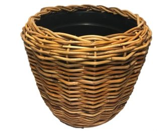Drypot platenmand naturel rond ⌀68 cm 54 cm hoog