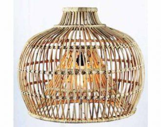 Lampenkap van rotan rond naturel ⌀ 66 cm en 54 cm hoog
