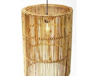 Lampenkap van rotan langwerpig ⌀ 44 cm en 60 cm hoog