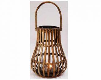Lantaarn bamboe naturel/donkergrijs