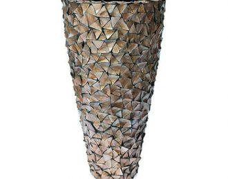 Pot 'Mother of Pearl' bruin schelpenpot ⌀74 cm H140 cm