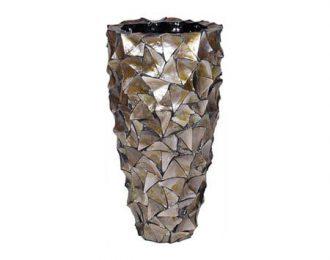 Pot 'Mother of Pearl' bruin schelpenpot ⌀40 cm H77 cm