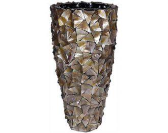 Pot 'Mother of Pearl' bruin schelpenpot ⌀50 cm H96 cm