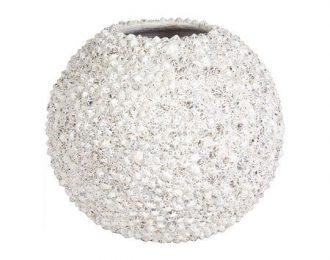 Bolvormige pot 'Beach' wit ⌀50 cm H40 cm