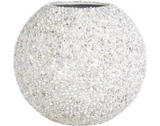 Bolvormige pot 'Beach' wit ⌀70 cm H60 cm