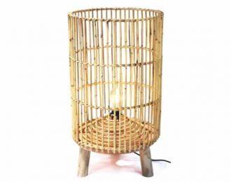 Vloerlamp bamboe langwerpig 78cm hoog