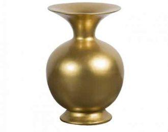 Vaas 'Belly' goud ⌀34 cm H66 cm