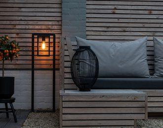 Moderne staande buitenlamp zwart 100 cm hoog